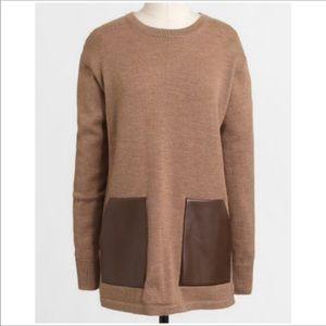 J. Crew Factory Merino Wool Pocket Tunic XXS